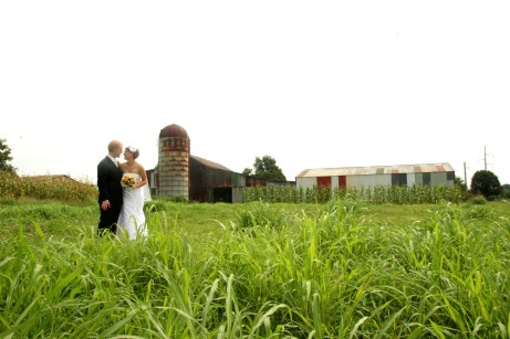 We took wedding pictures at the farm, but the actual ceremony was at the local church.